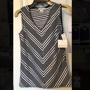 NWT Liz Claiborne sleeveless shirt, size small